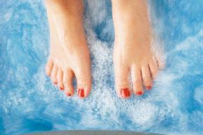 Tratamiento correcto de los pies cansados