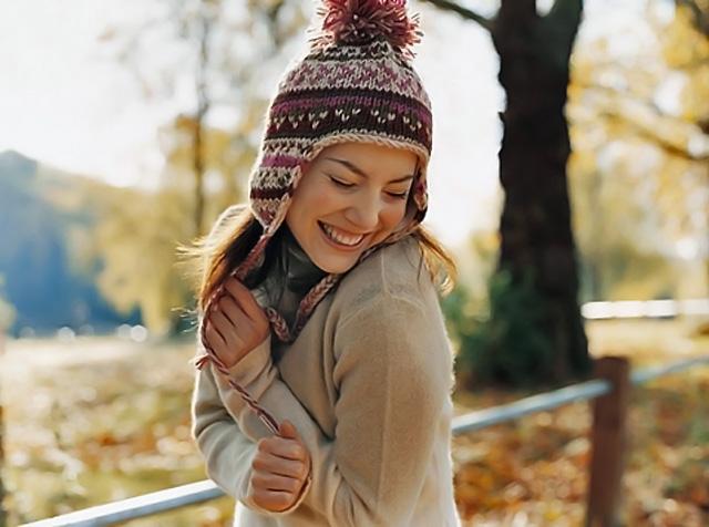 modelo en otoño