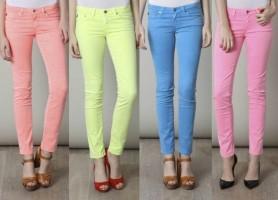 Jeans color pastel