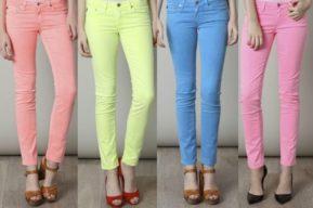Moda y belleza, el color pastel para los jeans