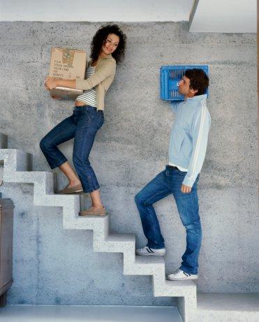 Ejercicio en las escaleras
