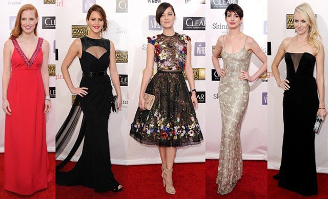 Look de las famosas en los Critics Choice Awards 2013