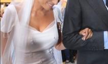 Lourdes Montes luce un vestido diseñado por ella misma el día de su boda
