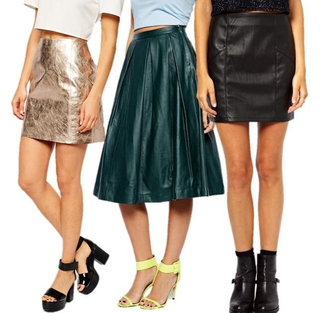 moda invierno y faldas de piel