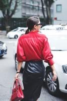 Moda tendencia rojo en invierno