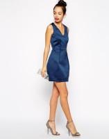 vestido azul corto