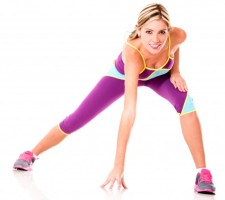 Mujer practicando fitness