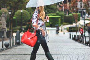 Un estilo exclusivo para llevar los días de lluvia