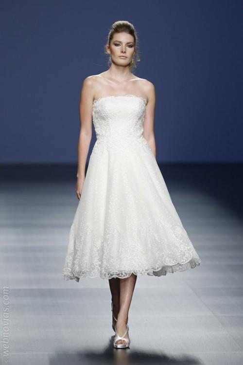 vestido novial corto Justin Alexander