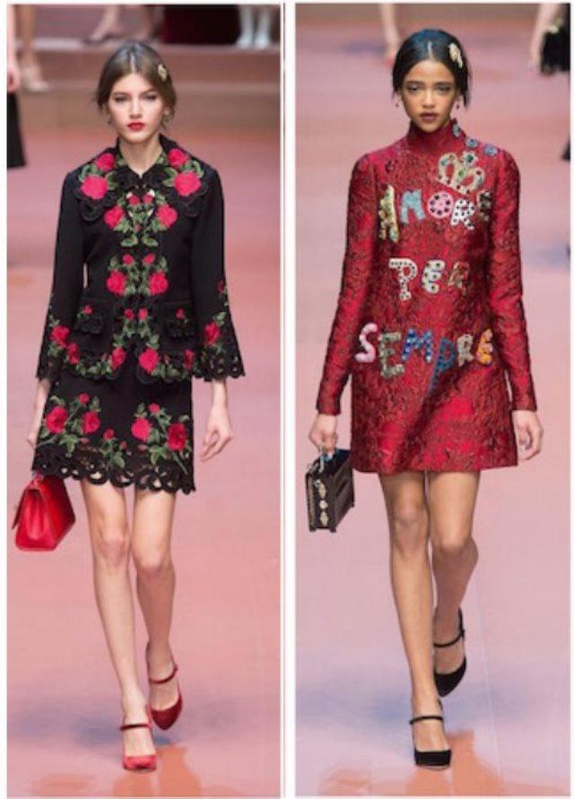 Vestido de flores rojo y negro – Vestidos destacados