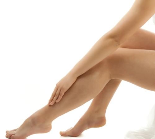 Mujer con piernas bonitas