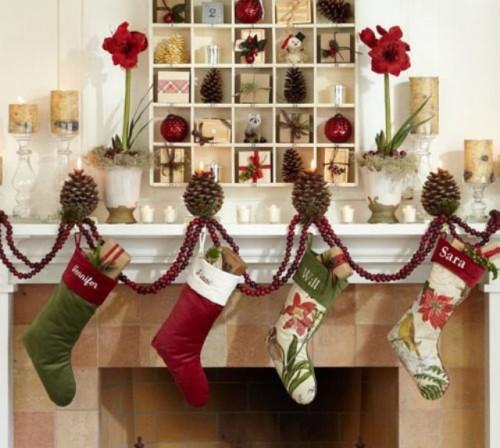 decoración navidad calcetines