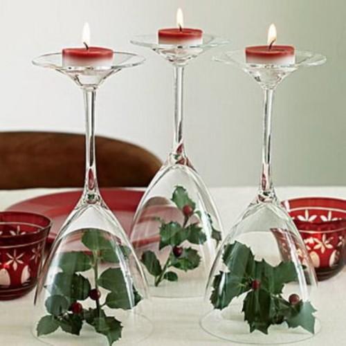 decoración navidad centro de mesa
