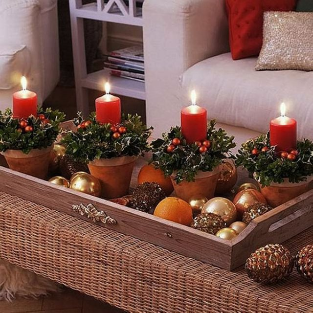 Ideas con velas para decorar tu casa en navidad efe blog for Como decorar el living de tu casa