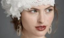 peinado novia encaje y flores