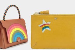 Colección de bolsos y accesorios arco-iris de Anya Hindmarch