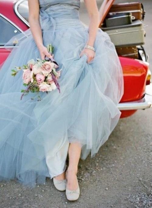 traje de novia celeste serenity