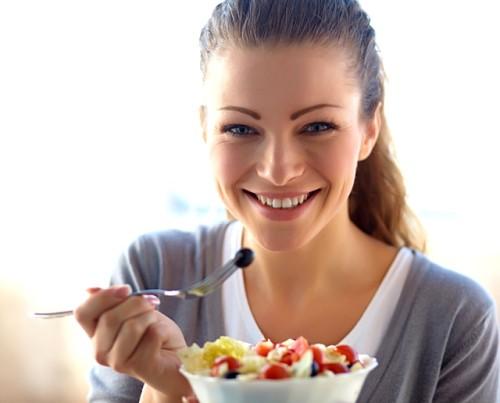 Mujer haciendo dieta