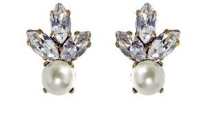 Pendientes Hermes Perla Blanca
