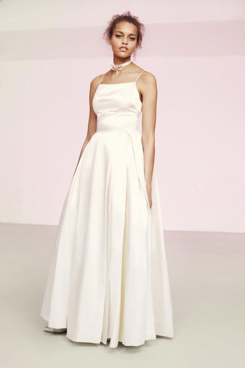 vestido de novia en satén