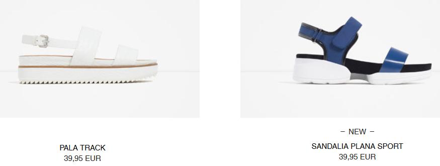 Zara, sandalias planas para esta temporada