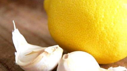 Dientes de ajo y limón