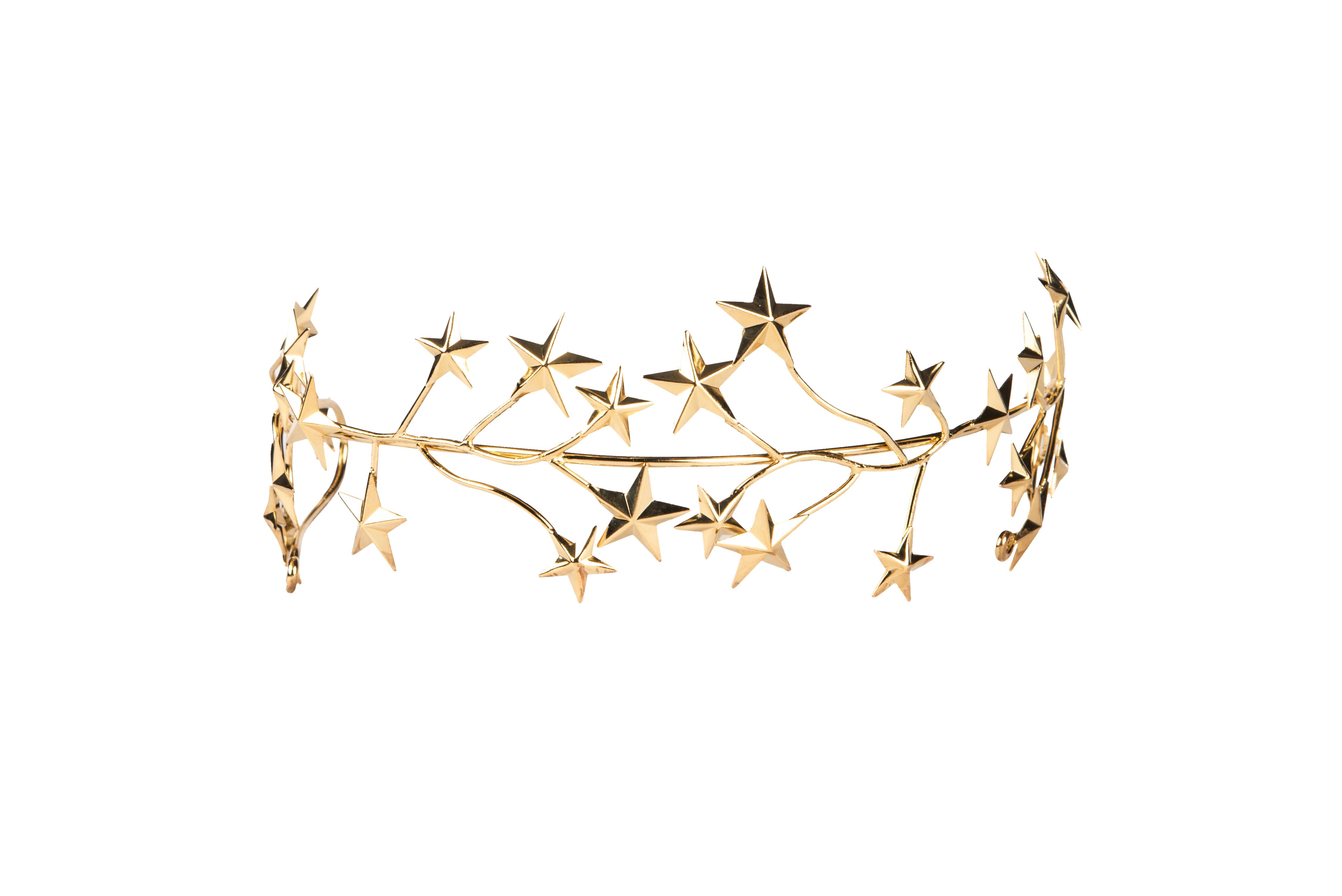 Tocado estrellas de bronce
