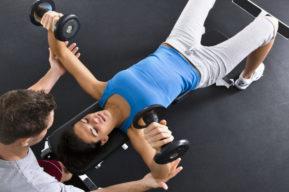 Musculación de los pectorales y de los senos