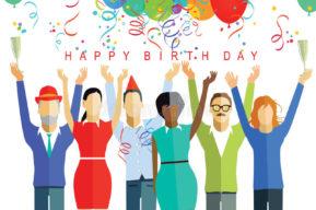 Festejar el cumpleaños en la oficina